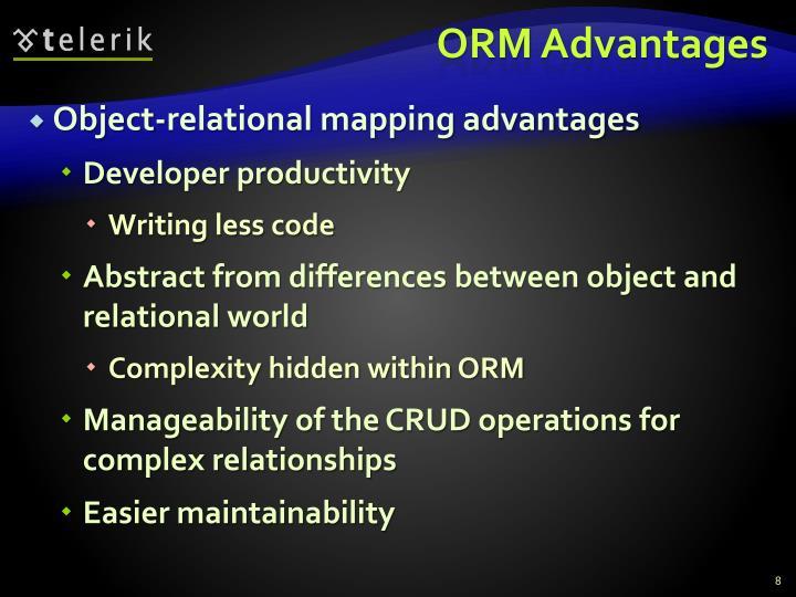 ORM Advantages