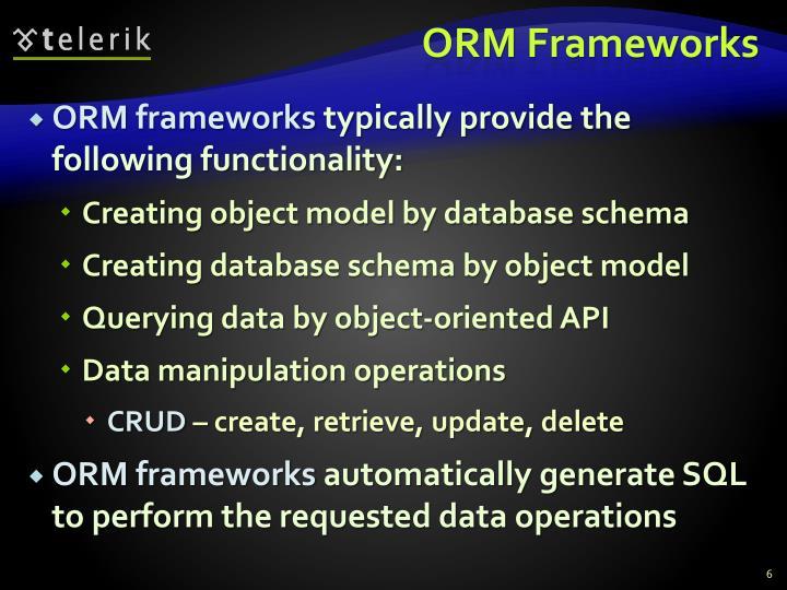 ORM Frameworks