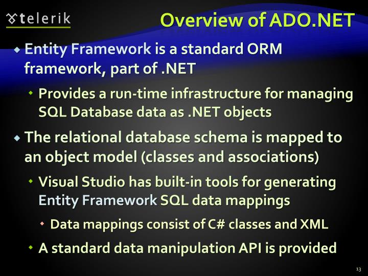 Overview of ADO.NET
