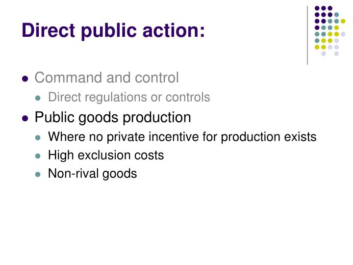 Direct public action: