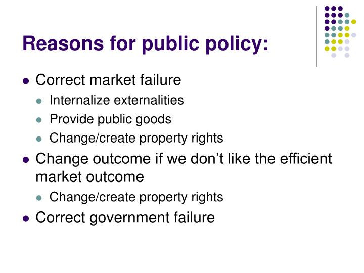 Reasons for public policy: