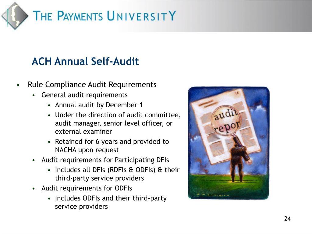 ACH Annual Self-Audit