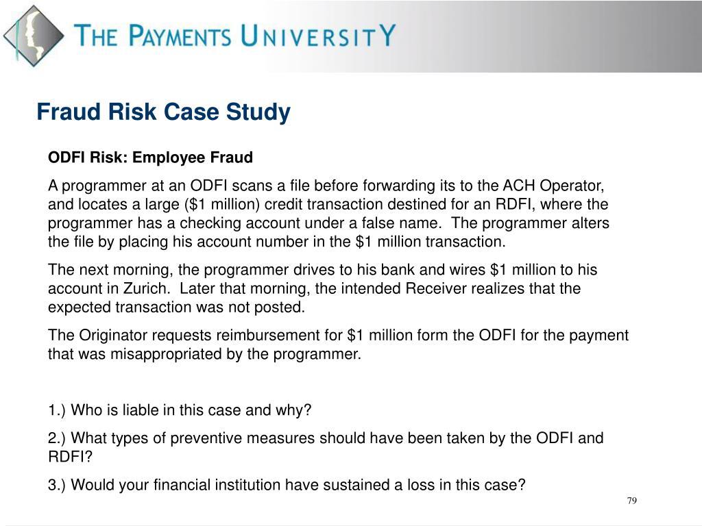 ODFI Risk: Employee Fraud