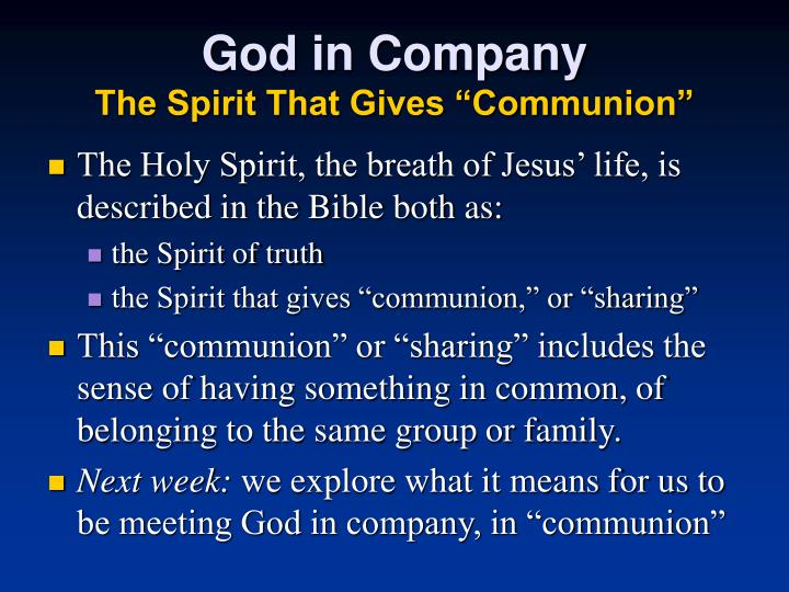 God in Company