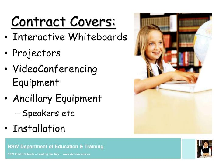 Contract Covers: