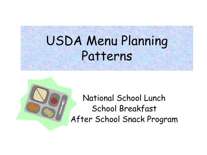Usda menu planning patterns