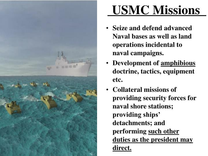 USMC Missions