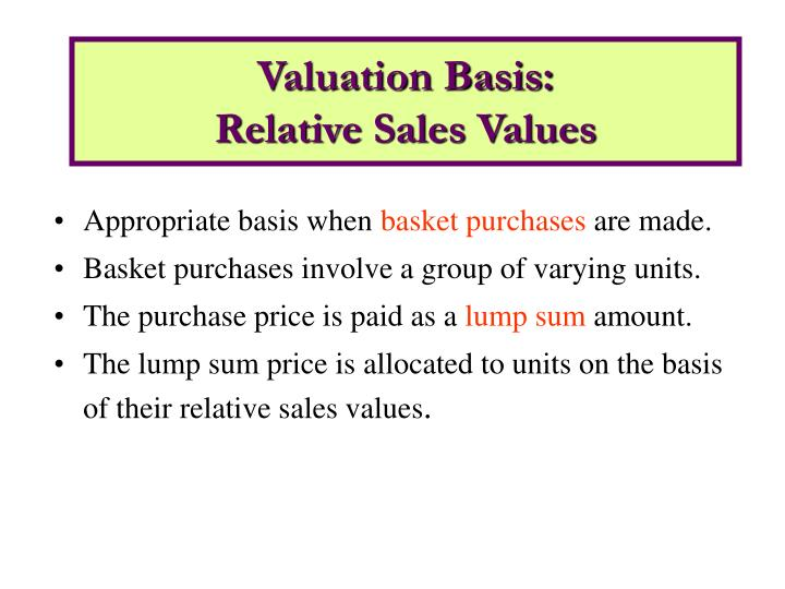 Valuation Basis: