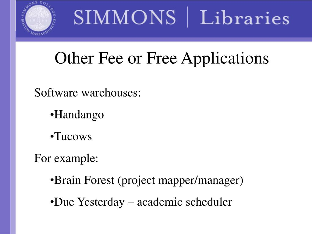 Other Fee or Free Applications