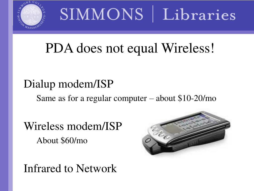PDA does not equal Wireless!