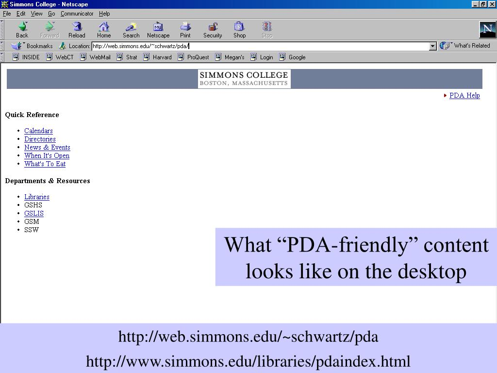 "What ""PDA-friendly"" content looks like on the desktop"