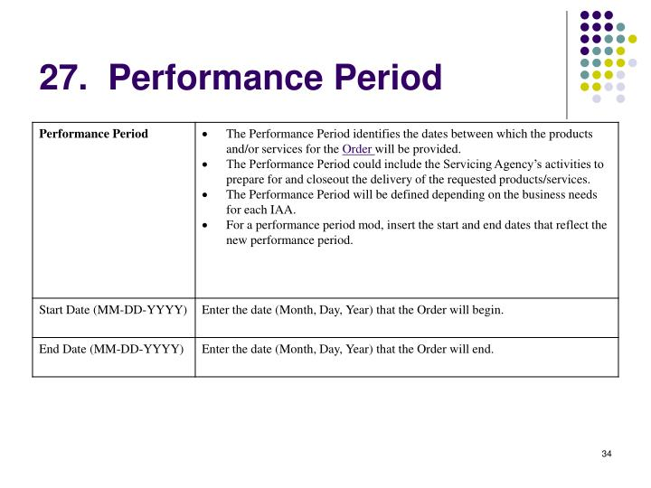 27.  Performance Period