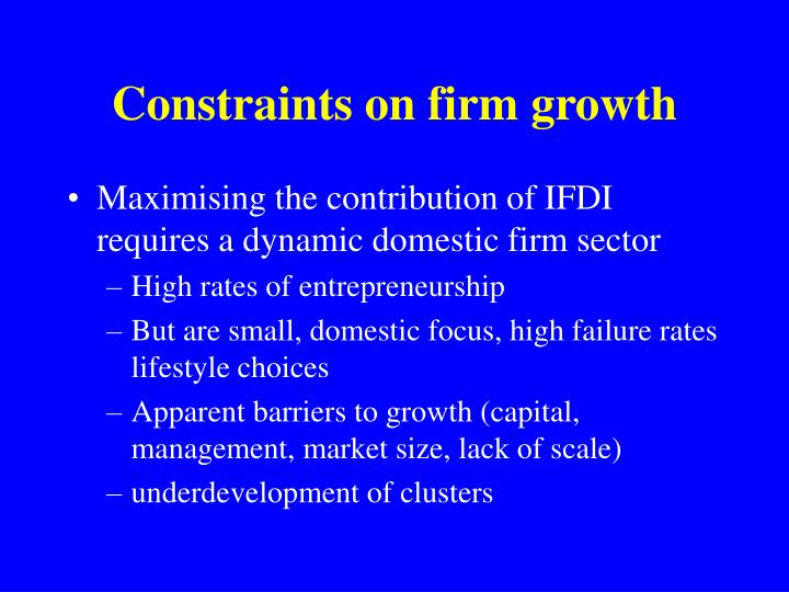 Constraints on firm growth