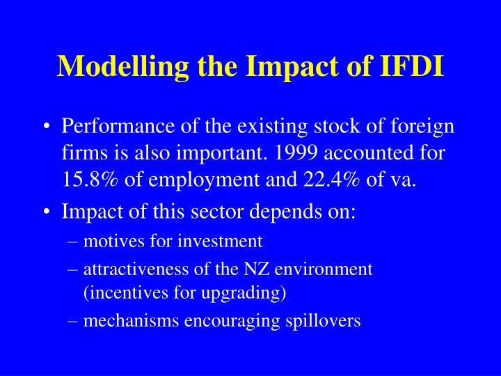 Modelling the Impact of IFDI
