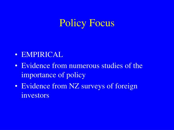 Policy Focus