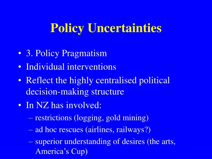 Policy Uncertainties