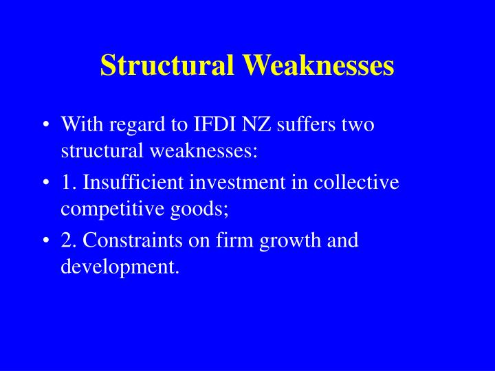 Structural Weaknesses