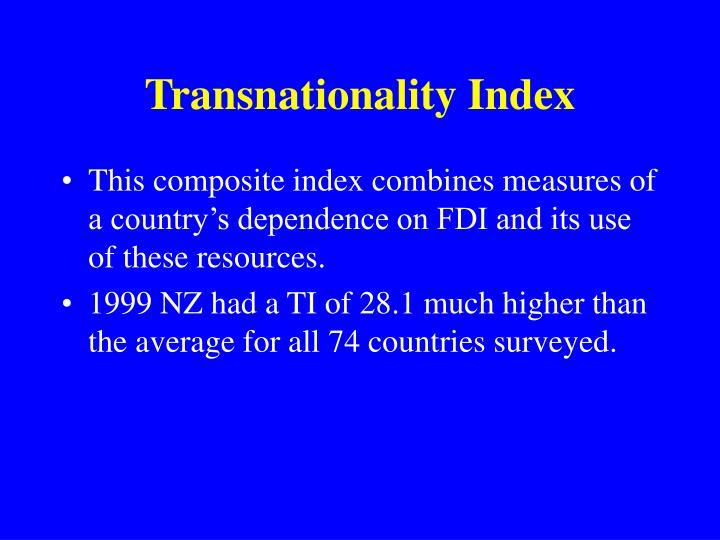 Transnationality Index