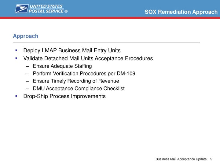 SOX Remediation Approach
