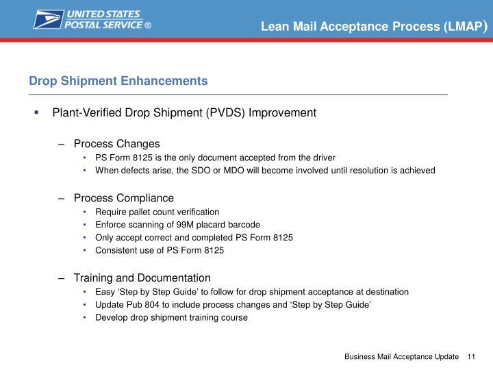 Lean Mail Acceptance Process (LMAP