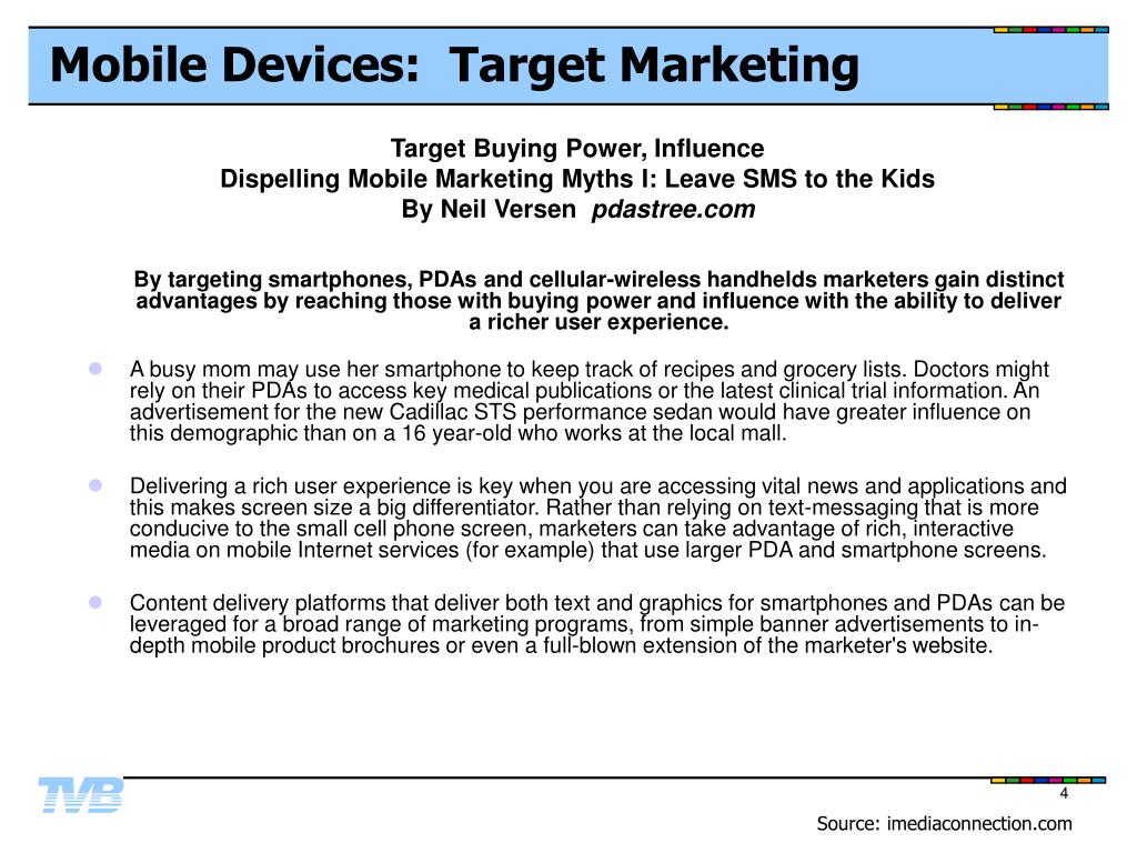 Mobile Devices:  Target Marketing