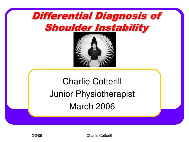 Differential Diagnosis of Shoulder Instability