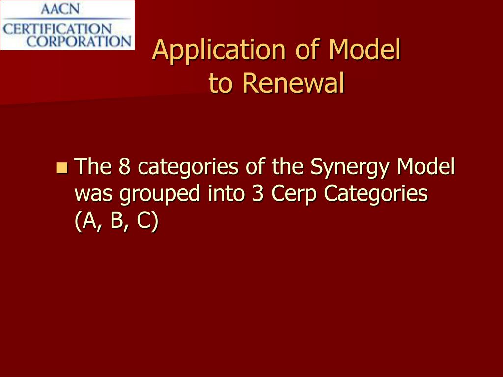 Application of Model