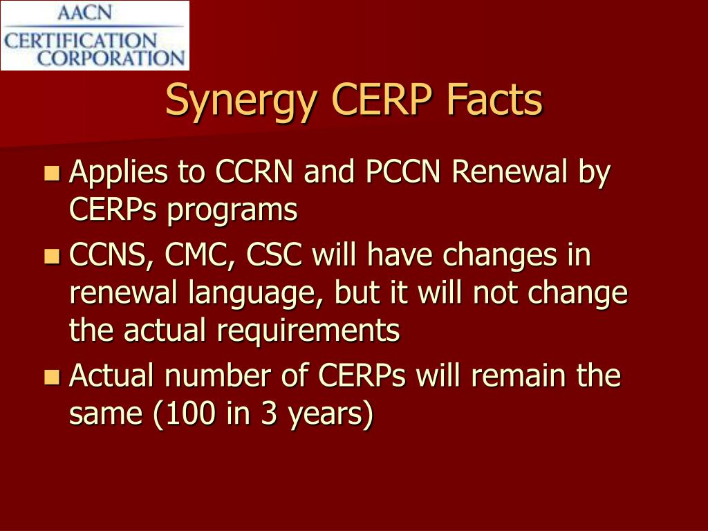 Synergy CERP Facts