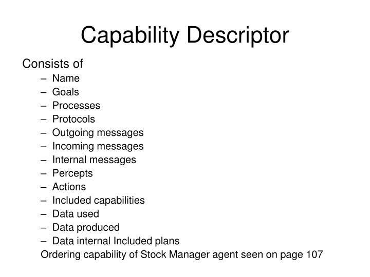 Capability Descriptor