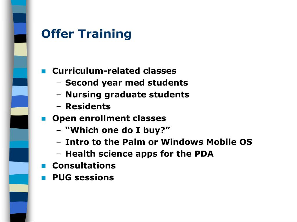 Offer Training