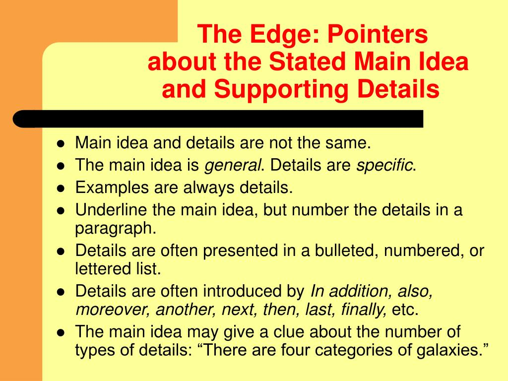 The Edge: Pointers