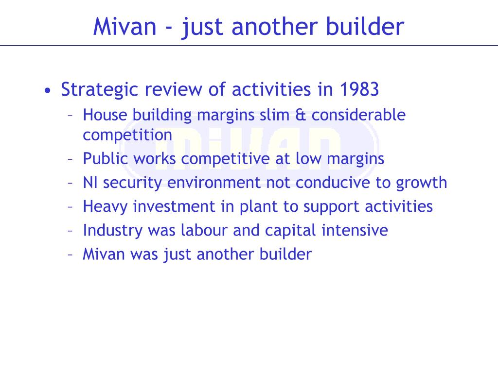 Strategic review of activities in 1983