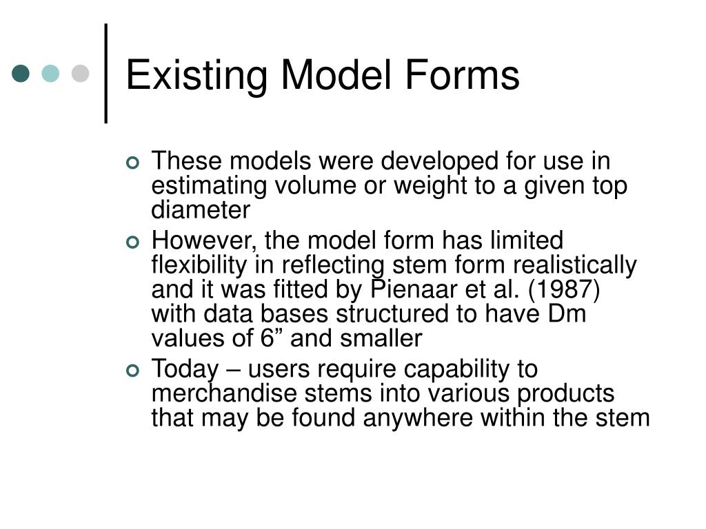 Existing Model Forms