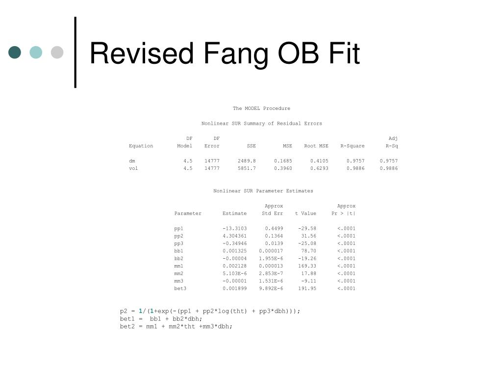 Revised Fang OB Fit
