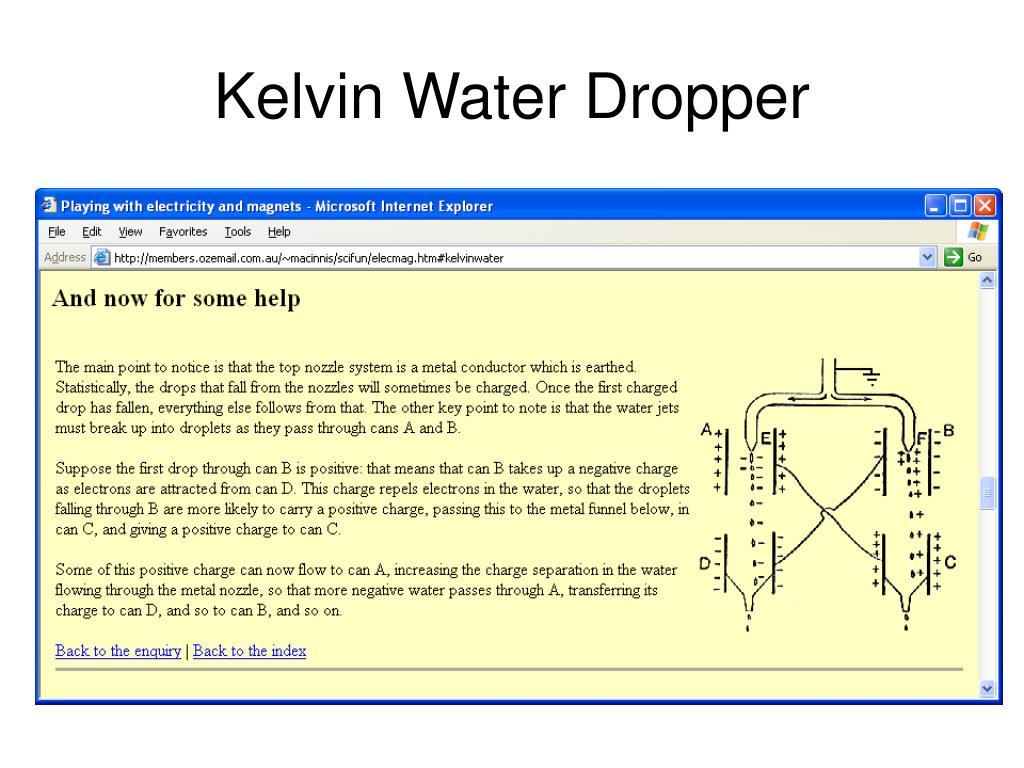 kelvin dropper theory