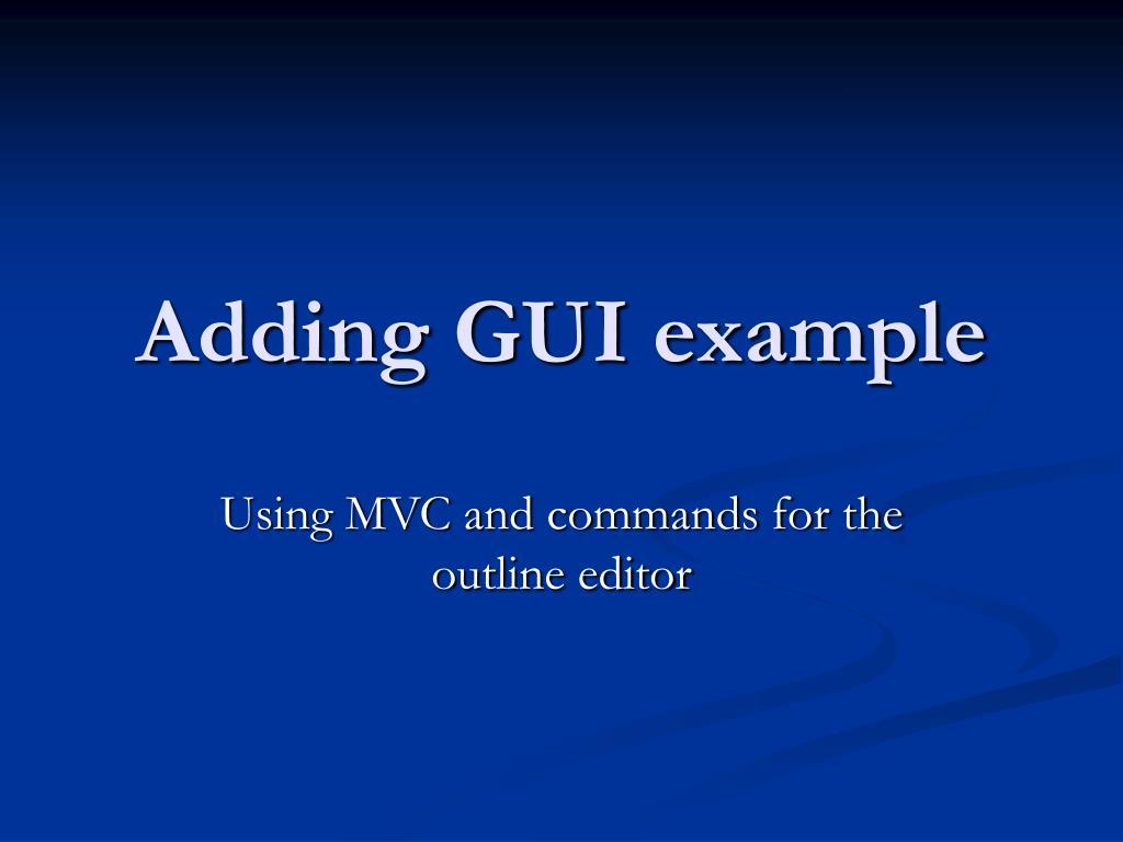 Adding GUI example