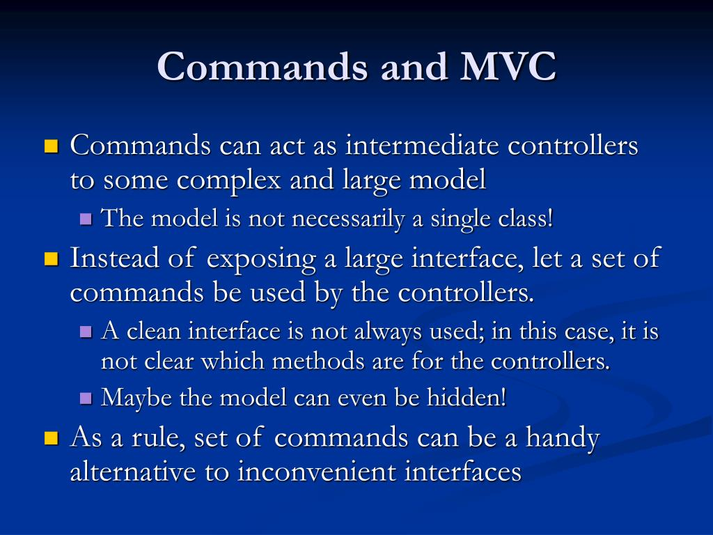 Commands and MVC