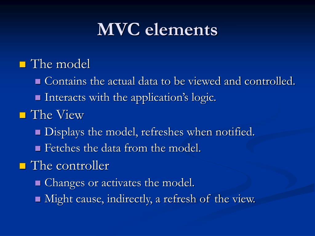 MVC elements