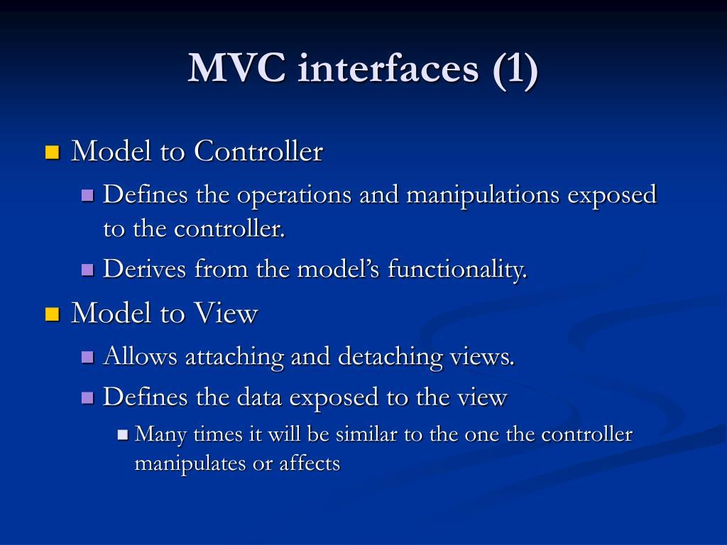 MVC interfaces (1)