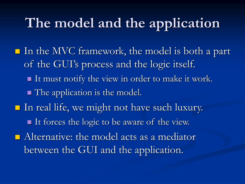 The model and the application