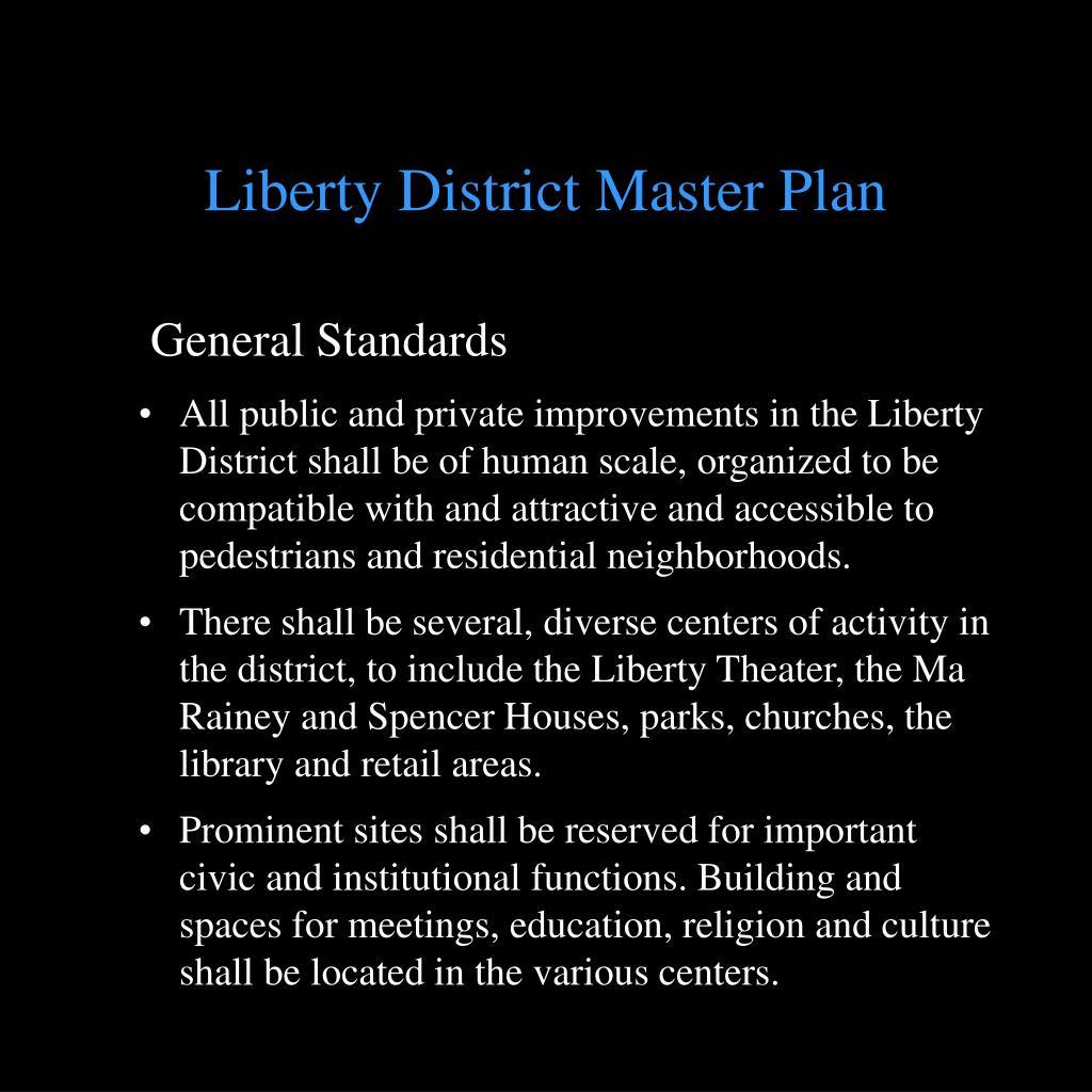 Liberty District Master Plan