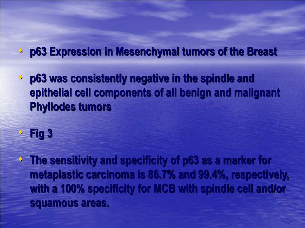 p63 Expression in Mesenchymal tumors of the Breast