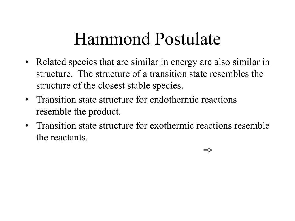 Hammond Postulate