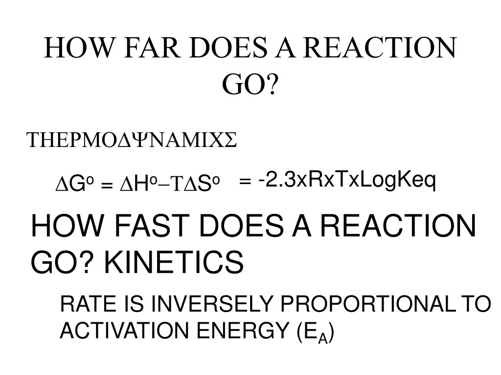 HOW FAR DOES A REACTION GO?