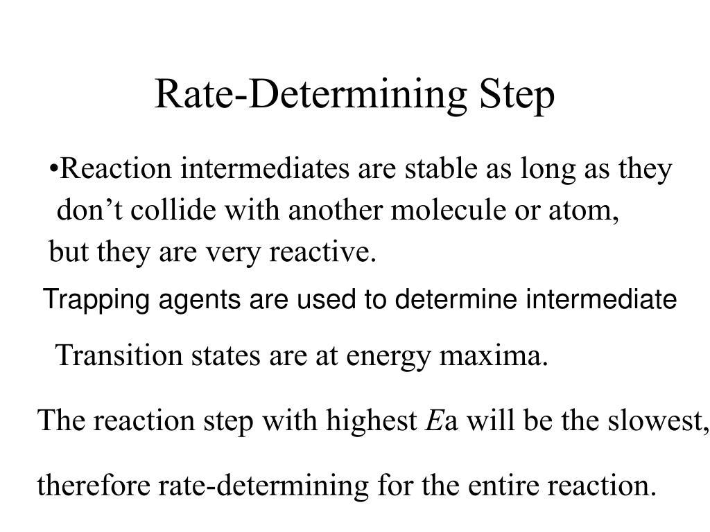 Rate-Determining Step