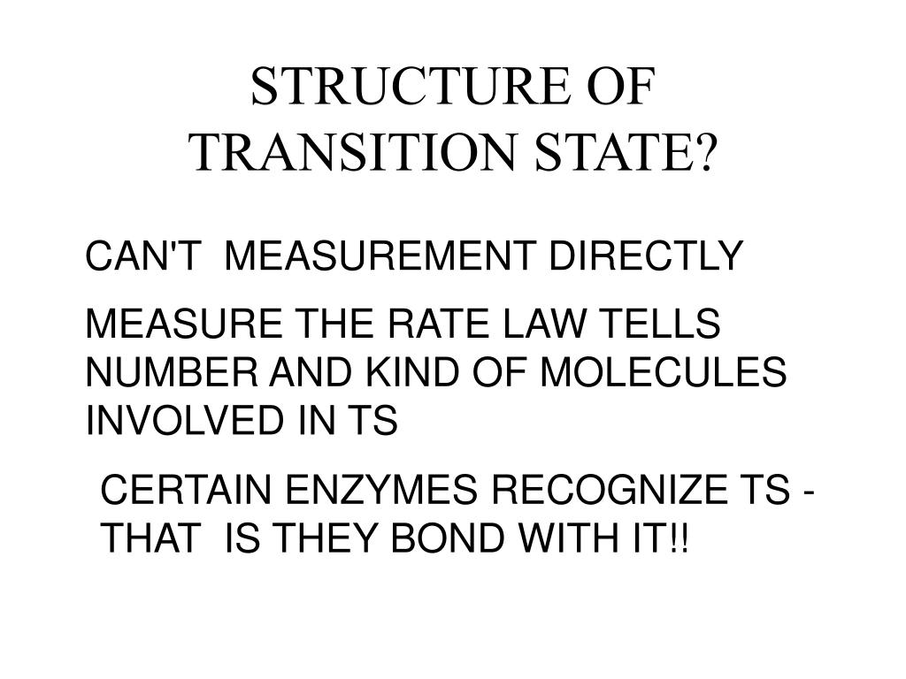 STRUCTURE OF TRANSITION STATE?