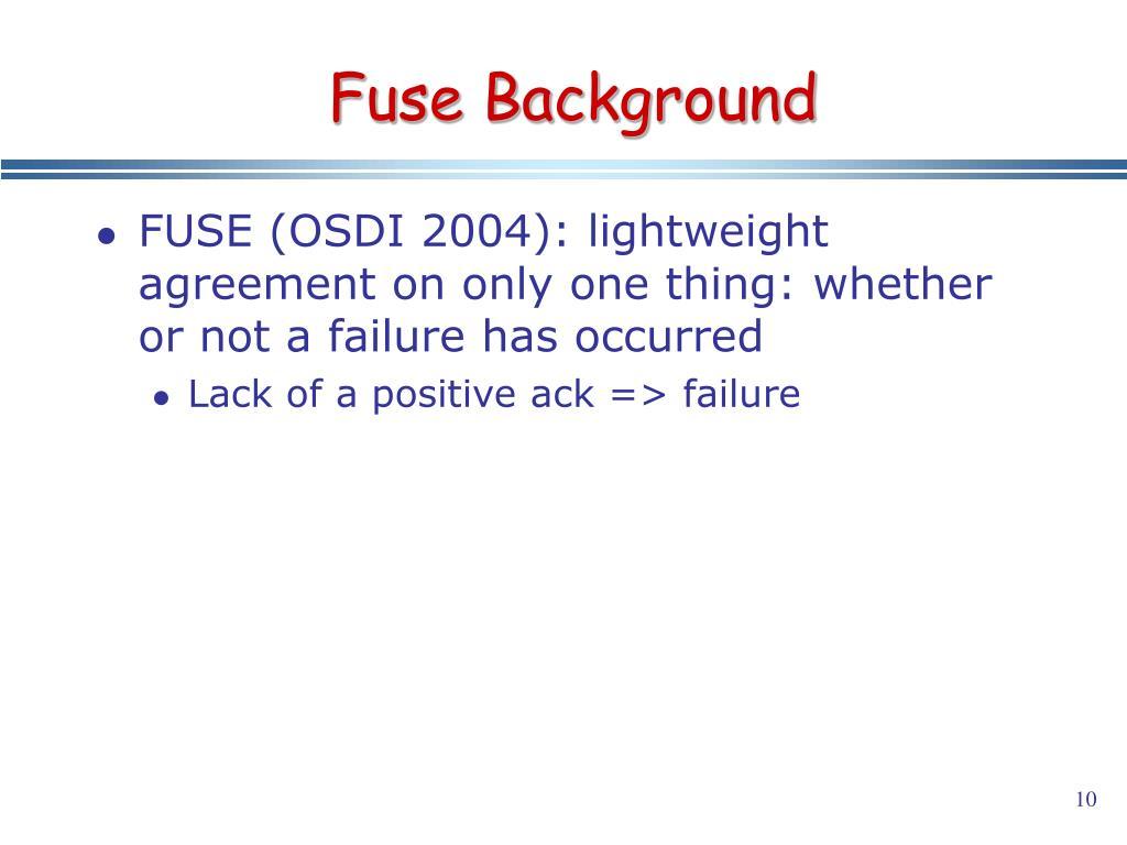 Fuse Background