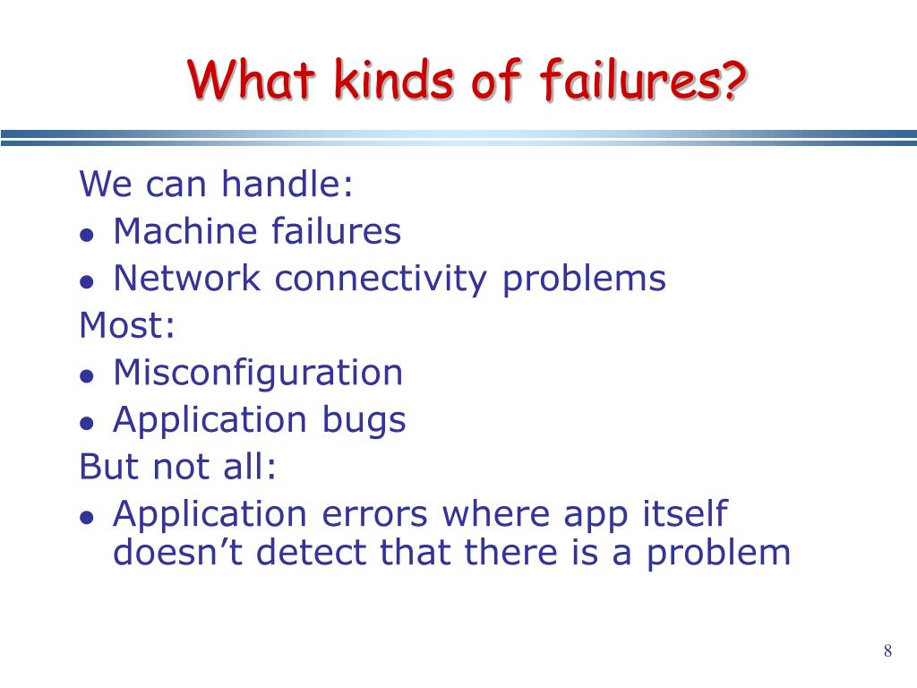 What kinds of failures?