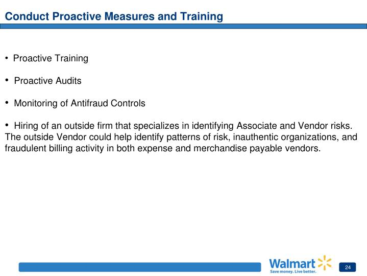 Conduct Proactive Measures and Training