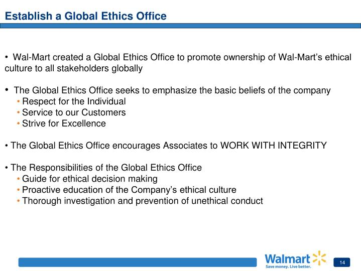 Establish a Global Ethics Office